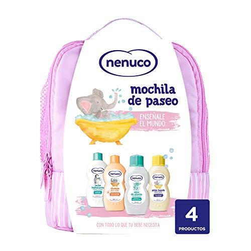 Nenuco Pack Bebé Mochila de Paseo color rosa, contiene colo