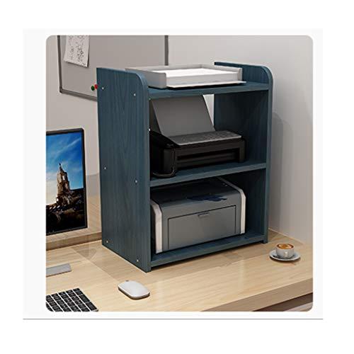 Soporte Impresora Impresora multifunción soporte del estante, escritorio for la impresora, la impresora de madera se coloca con el almacenamiento, Organizadores sobremesa espacio de trabajo for hogar