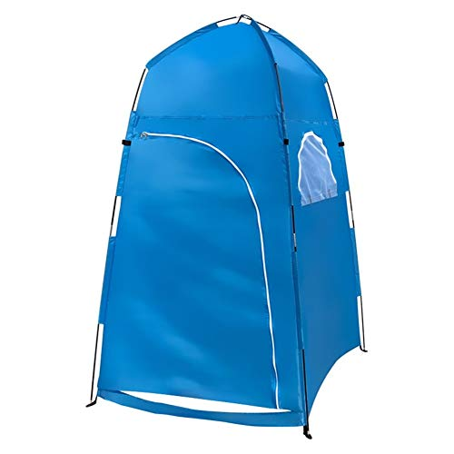 Camping Tent Outdoor Shower Tent Ship From Toilet Tent Bath Changing Fitting Room Beach Tent Privacy Shelter Travel (Color : Blue)