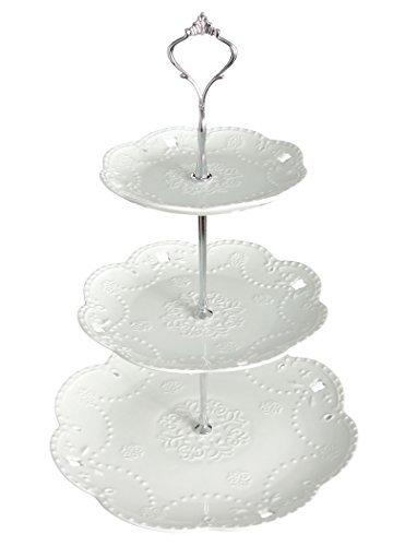 ケーキ スタンド プレート 3段 セット おしゃれ アフタヌーンティー パーティー フルーツ トレー 皿