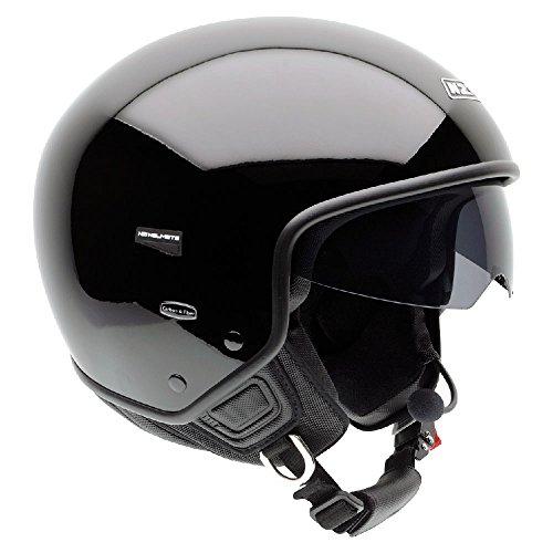 NZI Citycenter Motorradhelm, Schwarz, 64-65 cm