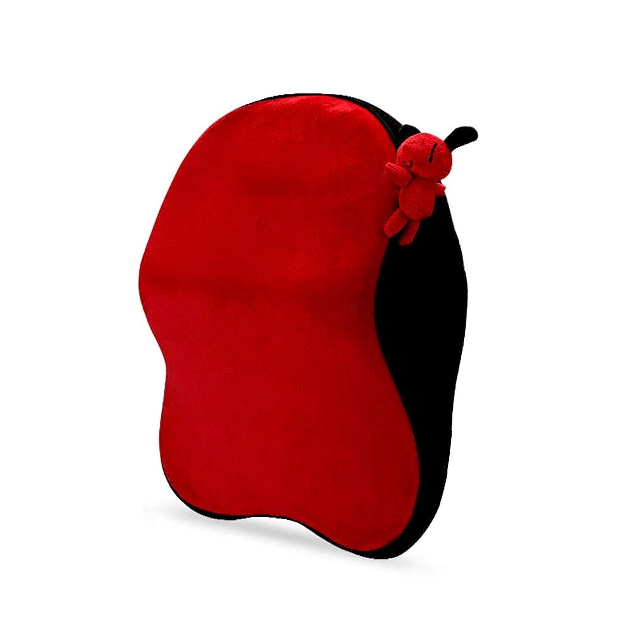 すり黒人頭記憶泡の車の首の枕、首の援助および首のサポートのための首サポートヘッドレストの枕、,Red