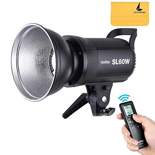 Godox SL-60W 60Ws 5600 ± 300K weiße VersionLED Video Light Studio ContinuousLamp für Kamera DV Camcorder (SL-60W)