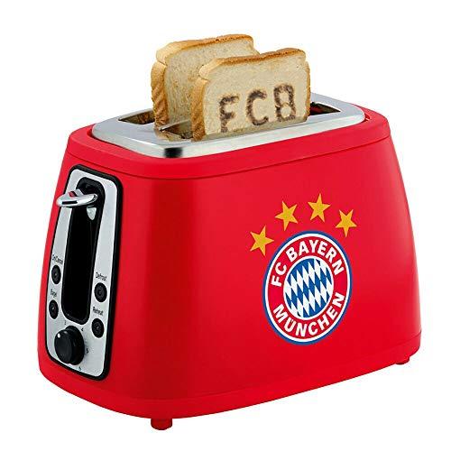 Bayern München Soundtoaster rot, Toaster bräunt FCB aufs Toast kompatibel FCB - Plus Lesezeichen I Love München