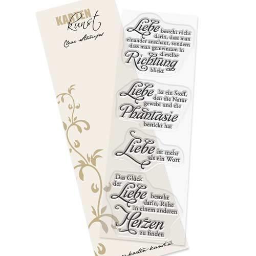Clear-Stamp-Set Stempel-Gummi Karten-Kunst Hochzeit Weise Worte Liebe