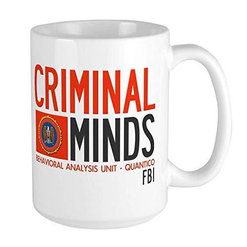 Criminal Minds FBI BAU Große Tasse Kaffeetasse Große weiße Kaffeetasse
