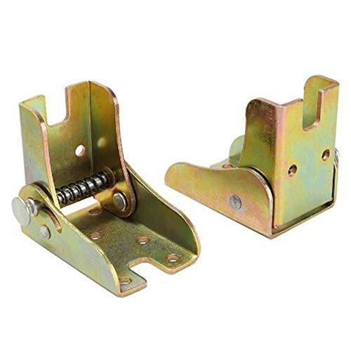 Mesa de extensión de bloqueo de bisagra plegable autoblocante de 90 grados y patas de silla Soporte de soporte plegable de acero bisagra oculta, 2PACK, con tornillos de montaje