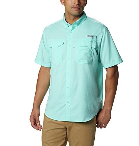 Columbia PFG Blood and Guts III T-Shirt à Manches Courtes pour Homme Résistant aux Taches et à l'eau Large Gulf Stream.