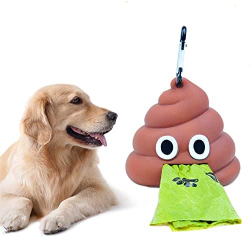 El dispensador de bolsas de residuos de caca for el portador de desechos de perro incluye 1 bolsas de rollo, accesorio de suministro de mascotas perro gato pequeña herramientas Poop bolsa de bolsa