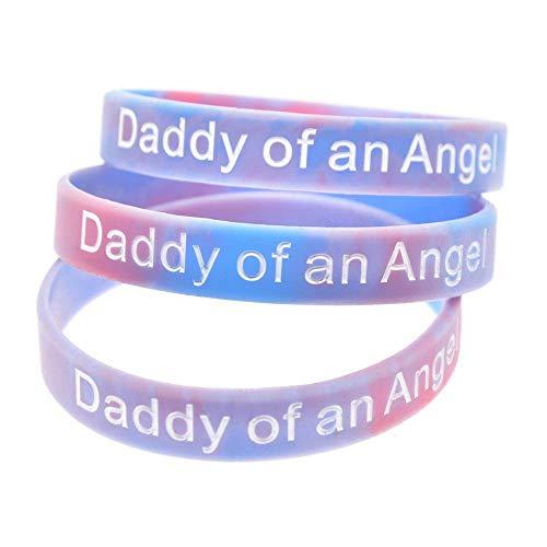 Siliconen Hand Ring mama en papa van een engel 10 stks