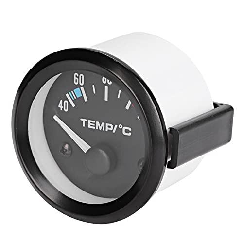 Medidor de temperatura del agua, 2 pulgadas 52 mm Universal Car Truck Azul LED Medidor de temperatura del agua digital Herramienta de instrumento 40-120 grados Celsius