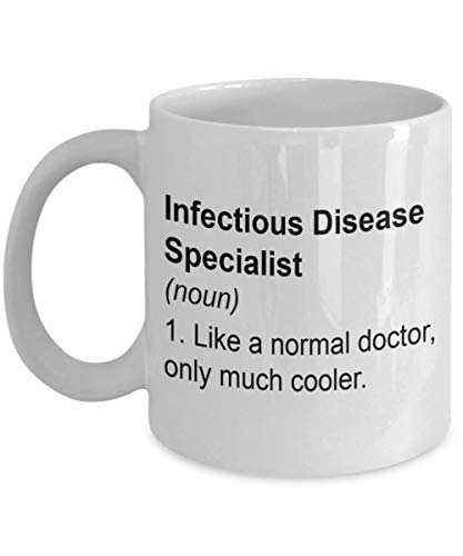 Regalos de especialistas en enfermedades infecciosas: como un médico normal, solo una taza de café más fresco, aprecio, cumpleaños, cumpleaños, ideas de regalos de Christams para MD, 11 oz taza