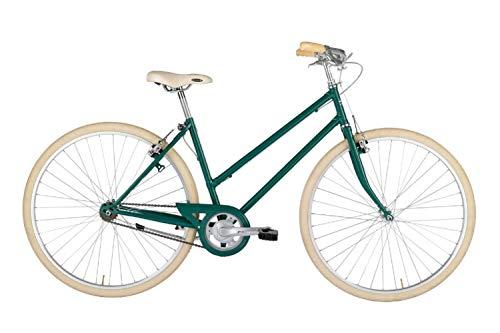 "Alpina Bike L'Ego, Bicicletta 1v Donna, Verde Smeraldo, 28"""