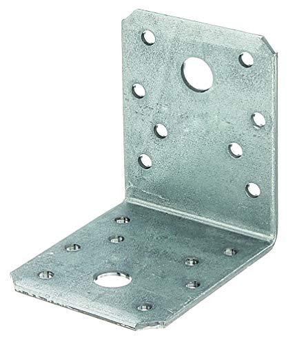 GAH-Alberts 334611 Winkelverbinder | Handwerkerpack | sendzimirverzinkt | 70 x 70 x 55 mm | 50er Set