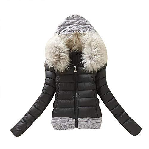 AILIEE Damne Mantel Jacke Outwear Mit Baumwolle Gepolsterter Damenmantel Mit Großem...