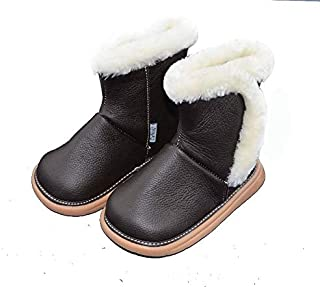 SandQ baby Fur Lined Coffee Leather Boots