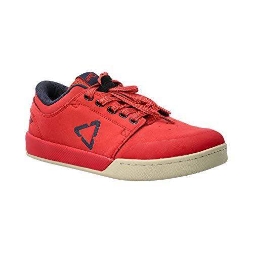 Leatt Chaussures 2.0 Flat, Scarpe da Mountain Bike Unisex-Adulto, Rouge Chilli, 43.5 EU