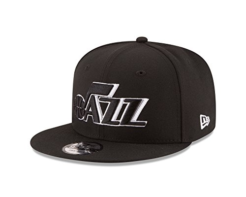 NBA Utah Jazz Men's 9Fifty Snapback Cap, One Size, Black