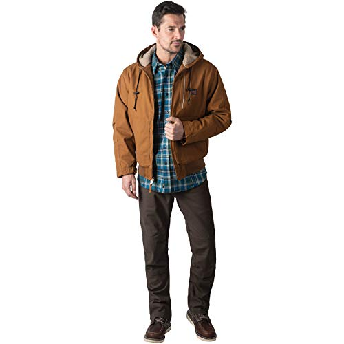 Walls Men's Super Duck Hooded Bomber Jacket, Pecan, L
