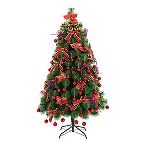 GY Sapin de Noël-150cm Sapin de Noël Artificiel Toutes Occasions Aiguille en Pin de Couleur Verte avec Support en Métal /+-+/ (Couleur : Red)