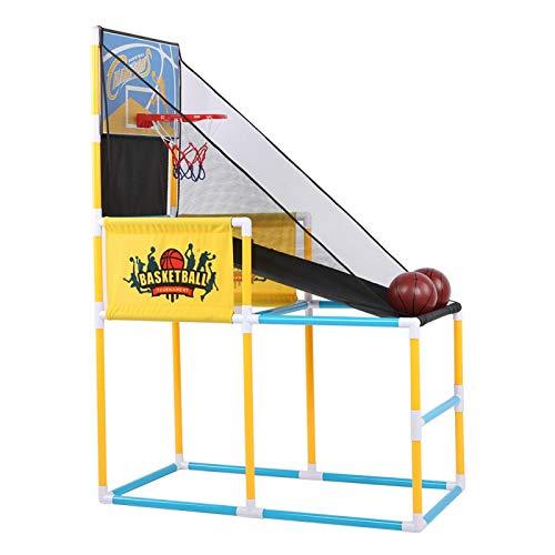 Juguete de baloncesto para deportes de interior, plástico para exteriores, tablero de baloncesto para deportes de interior, máquina de tiro vertical, juguete para entrenamiento de aro de práctica para