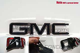 Decal Concepts GMC Sierra/Yukon Gloss Black Front Grill Emblem Overlay Wrap Kit (07-17)