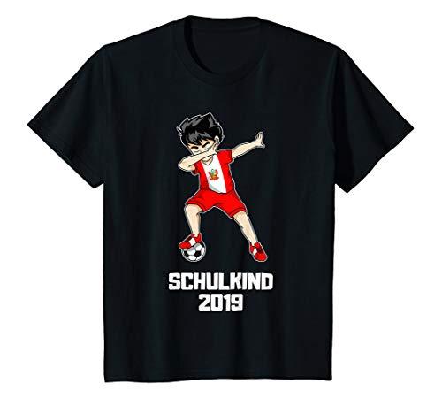 Kinder Schulkind 2019 Fußball Dabbing Fußballer Peru Trikot T-Shirt