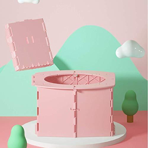 oofay Inodoro portátil plegable para niños, con bolsa de limpieza, fácil de instalar, apto para viajes, camping, atascos de tráfico (rosa)