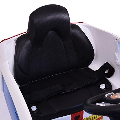 RC Auto kaufen Kinderauto Bild 3: COSTWAY 2.4G Elektroauto Kinderauto Elektrofahrzeug Kinderfahrzeug Elektro Auto Zwei Motor mit Fernbedienung und Musik (Weiß)*