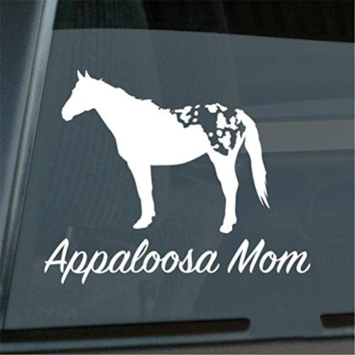 Auto sticker Appaloosa Mom sticker die cut stok paard raam sticker grootte (inch): 6,25 x 5,03