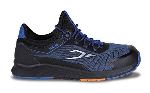 Beta 7352B 41 – Zapatillas Bajas de Seguridad Beta.0-Gravity Azul/Negro, Zapatillas de Trabajo Ligeras, Empeine de Tejido y Malla. Altura de transpiración, Suela de EVA y Puntera de Compuesto.