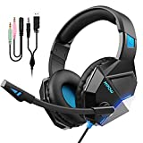 Mpow EG10 Cuffie Gaming per PS4, PC, Xbox One, Cuffie da Gaming con microfono e Bass stereo, Cuffie...