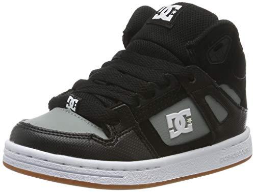 DC Shoes (DCSHI) Crisis WNT High Top Shoes for Boys, Zapatillas de Skateboard para Niños, BlackGrey, 31 EU
