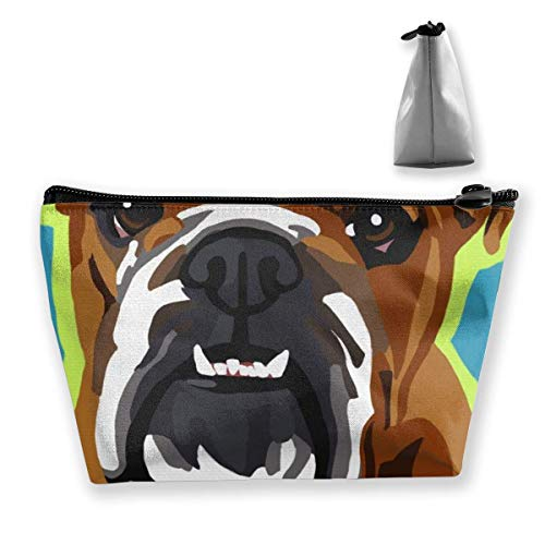 Trapezoid Makeup Pouch Storage Holder Bulldog Anglais Pop Art Womens Travel Case Cosmetic Makeup Pouch