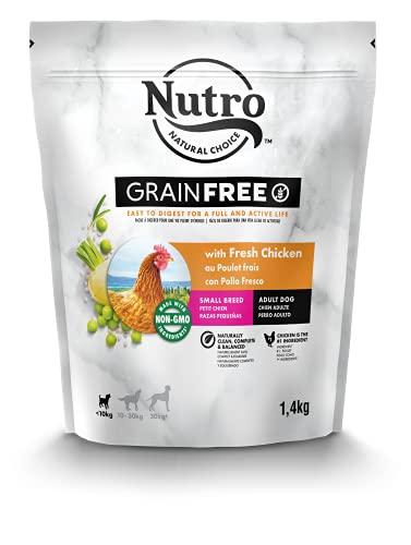 NUTRO Grainfree Nourriture sèche pour chien adulte < 10 kg avec poulet 1,4 kg