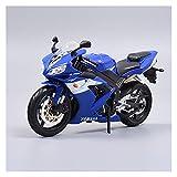 MHDTN Grande Giocattoli per Macchinina Motocross 1:12 per Yamaha R1 Simulazione Lega Pressofusa Modello di Motocicletta Ornamenti Collezione Regalo Auto Giocattolo I Modelli più Caldi 2021