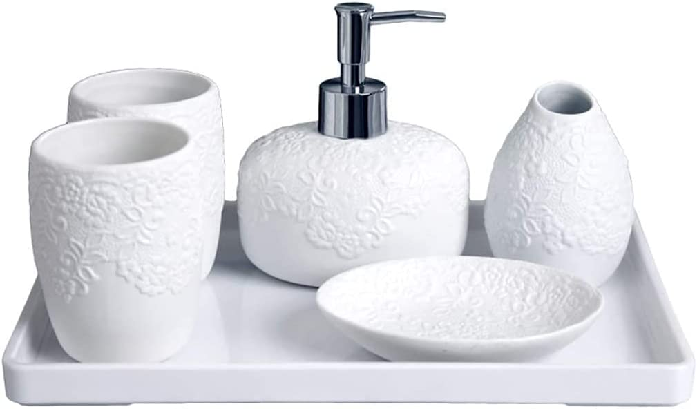 JYMBK Ceramics 6 Piece - Gift Cheap mail order shopping and Dish Package Soap Trust Dispenser