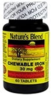 Nature's Blend Chewable Iron Sugar Free 30MG 60 COUNT