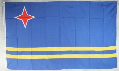 Flagge Fahne ca. 90x150 cm : Aruba Arubaflagge Nationalflagge Nationalfahne