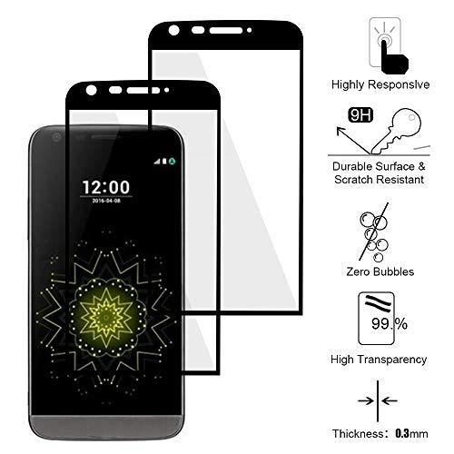 Siumir 2 PCS Cobertura Total Protector de Cristal Templado para LG G5 Protector...