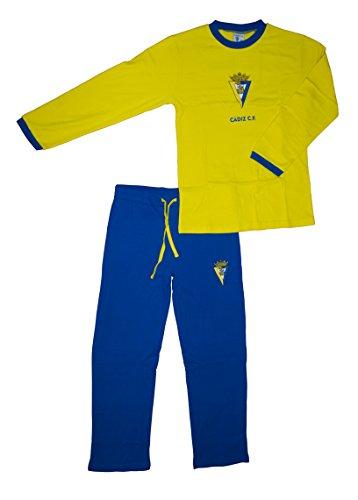 Cádiz CF Pijcad Pijama Larga, Bebé-Niños, Multicolor (Amarillo/Azul), L