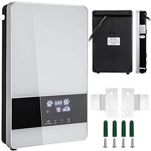 ZGYQGOO - Calentador de agua instantáneo, 24 kW, 380 V, eléctrico, trifásico, LED, digital, calentador de agua sin depósito para cocina o cuarto de baño (24 kW)