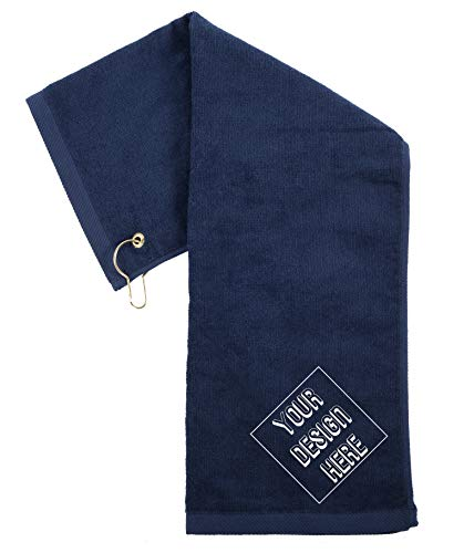 Custom Embroidered Towels | Personalized Golf Towels, for Dads, Birthdays and More! - Navy CE6900