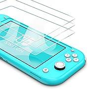 BANNIO für Panzerglas für Nintendo Switch Lite 2019,3 Stück Panzerglasfolie Schutzfolie,9H Härte Glas Displayschutzfolie 0.25 mm für das 5,5 Zoll Display HD Schutzfilm für Nintendo Switch Lite