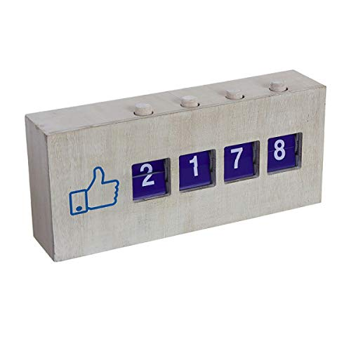 Unbekannt Manueller Like-Zähler für Facebook, 4-stellig, Holz, 30 cm