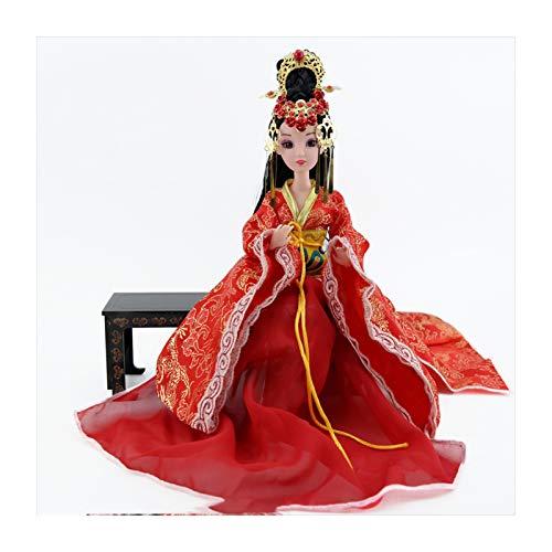 Siunwdiy Mueca Oriental, 30cm mueca China, Estilo Chino de 12 articulaciones de la mueca de China Ancient Fairy Ball-Mueca articulada para nias, Mesa de t Decoracin de la mueca,Chinese Bride