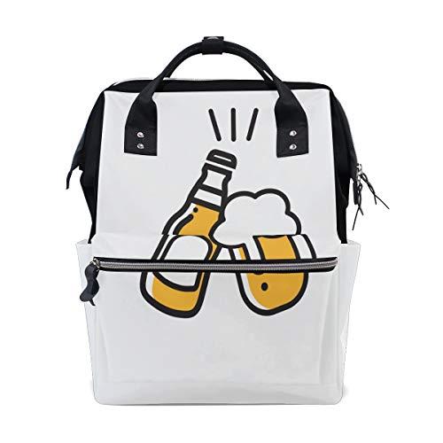 Bier Getränk Vereinbarung Deal Cheers Große Kapazität Windel Taschen Mummy Rucksack Multi Funktionen Wickeltasche Tasche Tote Handtasche Für Kinder Babypflege Reise Täglichen Frauen