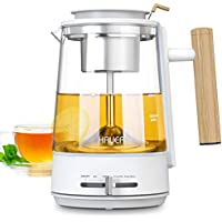 Hauea 1L Glass Tea Pot with Removable Stainless Steel Strainer