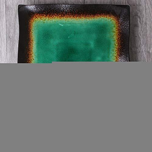 KEKEYANG Set de Cubiertos de Corea del Desayuno Placa del Plato Principal Plato de cerámica vidriado de Color Plato Hondo Plato de Arroz tazón Grande Sopa tazón Grande Disco de 11 Pulgadas Platos