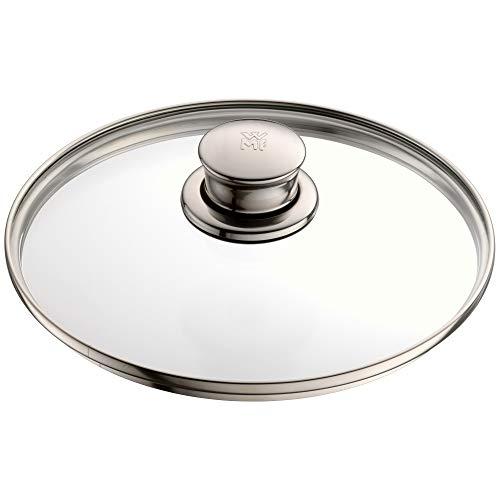 WMF Diadem Plus Topfdeckel 20 cm, Glasdeckel mit Metallgriff, hitzebeständiges Glas, spülmaschinengeeignet